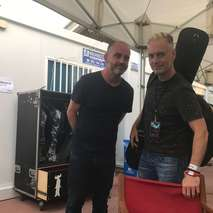 Paul and Rob arrive for rehearsal