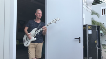16 july 2017 - The band backstage getting warmed up for Musilac festival in France.